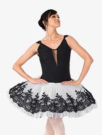 Womens Jamila Lace Professional Platter Tutu Dress