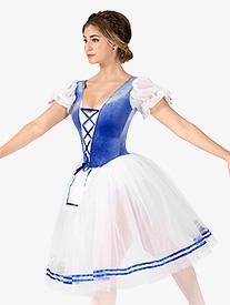 Girls Swanhilda Short Sleeve Peasant Costume Dress