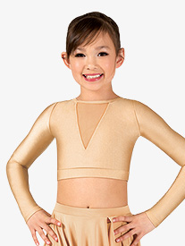 Girls Lyrical Flow Collection Mesh Crop Top