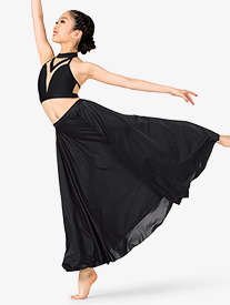 Girls Lyrical Flow Collection Floor Length Skirt