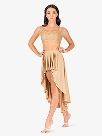 Womens Lyrical Flow Collection High-Low Skirt