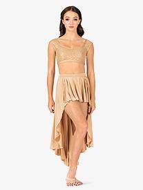Girls Lyrical Flow Collection High-Low Skirt