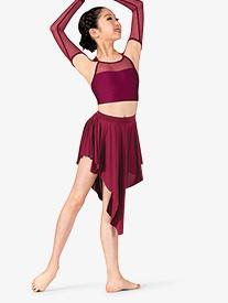 Womens Lyrical Flow Collection Asymmetrical Skirt