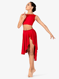 Womens Lyrical Flow Collection Side Slit Skirt