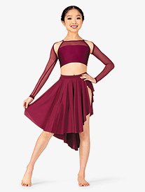 Girls Lyrical Flow Collection Side Slit Skirt