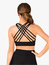 Womens Crisscross Back Dance Bra Top