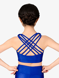 Girls Crisscross Back Dance Bra Top