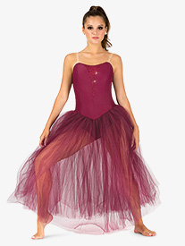 Womens Performance Camisole Romantic Tutu Dress