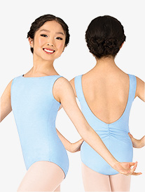 Studio Collection Girls Cotton Pinch Back Tank Leotard