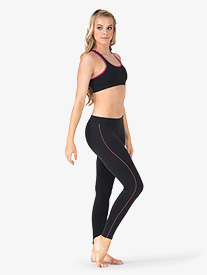 Adult Hilary Pink Trim Ankle Leggings