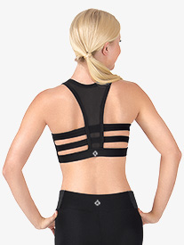 Womens Multi-Strap Back Sports Bra Top