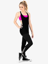 Womens Crisscross Compression Workout Leggings