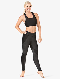 Womens Contrast Compression Workout Leggings