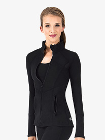 Womens Mesh Full Zip Workout Jacket