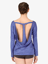 Womens Active T-Back Long Sleeve Top