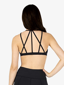 Womens Compression Crisscross Sports Bra