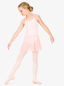 Girls Ribbon Mesh Pull-On Ballet Skirt