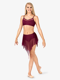 Adult Uneven Hem Drapey Dance Skirt