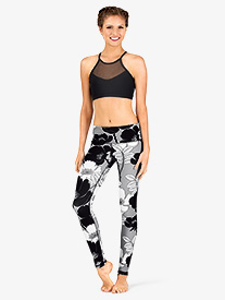 Womens Floral Workout Leggings
