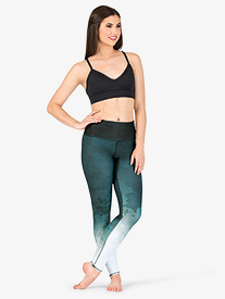 Womens Nepal Mid-Rise Workout Leggings