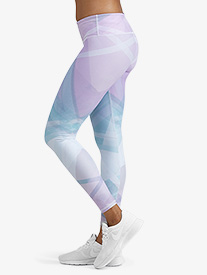 Womens Graphic Print Fitness Leggings
