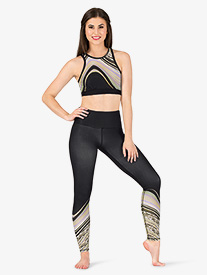 Womens Swirl Ankle-Length Workout Leggings