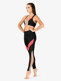 Womens Jordyn Colorblock Workout Leggings