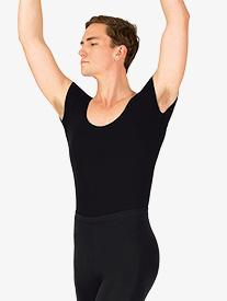 Mens Dance Cotton Short Sleeve Leotard