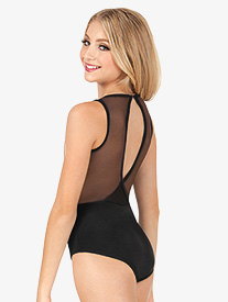 Girls Tiler Peck Power Mesh Slit Back Leotard
