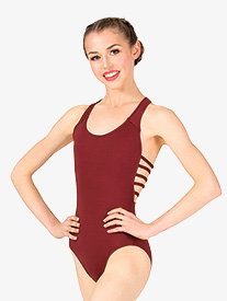 Womens Strappy Back Tank Leotard