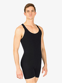 Mens Cotton Tank Dance Shorty Unitard
