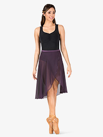 Womens Long Sheer Ballet Wrap Skirt