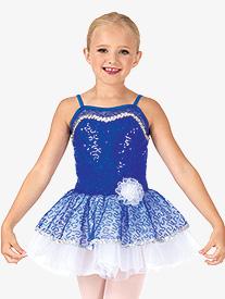 Child Bustled Sequin Camisole Tutu Costume Dress
