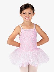 Child Floral Lace Camisole Tutu Costume Dress
