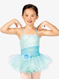 Child Asymmetrical Sparkle Camisole Tutu Costume Dress