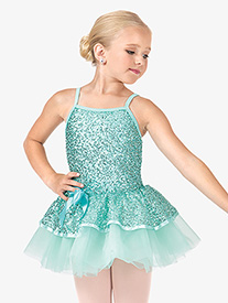 Child 2-Tier Sequin Camisole Tutu Costume Dress