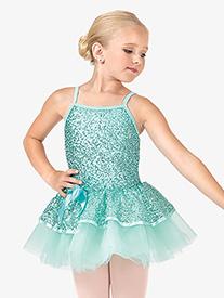 Child 2-Tier Sequin Camisole Tutu Costume Dress