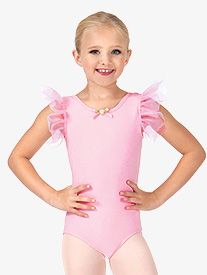 Child Mesh Short Sleeve Leotard