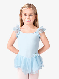 Child Double Flutter Sleeve Dress