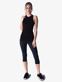 Womens Mesh Cropped Workout Leggings