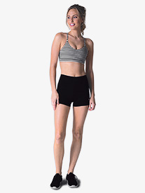 Womens High Waist Fitted Athletic Shorts