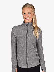 Womens Mesh Back Long Sleeve Athletic Jacket