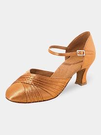 Womens Pleated Toe Satin Ballroom Dance Shoes