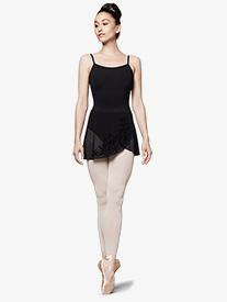 Womens Flock Mesh Wrap Pull-On Ballet Skirt