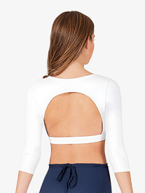 Adult Boatneck 3/4 Sleeve Crop Top