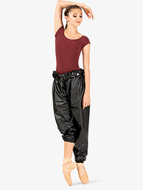 Womens High Waist Trash Bag Dance Pants