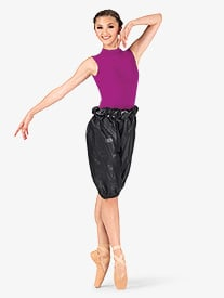Womens High Waist Trash Bag Dance Shorts