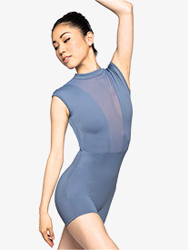 Womens Fearless Open Back Cap Sleeve Shorty Unitard