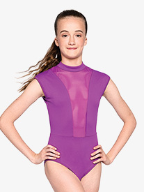 Womens Strong Back Cutout Short Sleeve Leotard