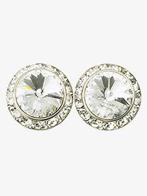 15mm Clip-On Crystal Earrings
